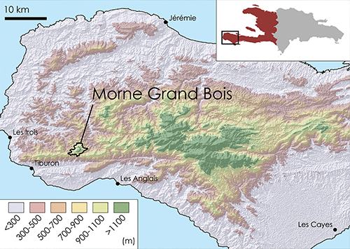Fig 1. Location of Grand Bois