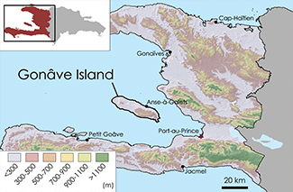 La Gonâve Topographic Map 1