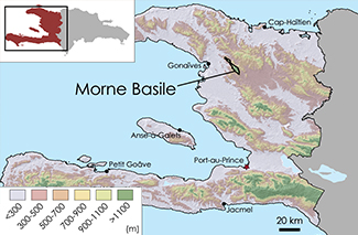 Morne Basile Topographic Map 1